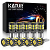 Katur 10Pcs T10 LED Canbus W5W LED Bulb Auto Lamp 3014 30SMD Car Interior Light 194 168 Light Bulb White Red Yellow No Error 12V