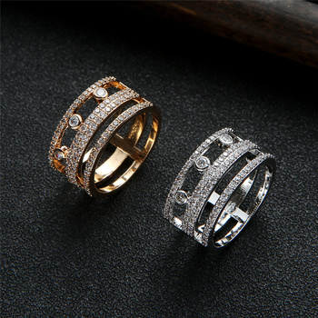 EYER Fashion Promotion 2020 Jewelry Geometric Cubic Zirconia New Party Dating Different Size Rings For Women Bridal Jewlery 1