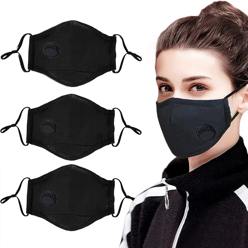 3 Pack Anti Dust Men Women Masks, Washable Face Masks Cotton Mouth Masks With PM 2.5 Filters And Adjustable Straps