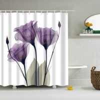 Hermosa flor diente de león, cortinas de Ducha, Cortina de baño de tela impermeable de la tela de poliéster baño Cortina Ducha con ganchos