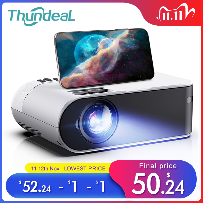 ThundeaL TD60 Mini Projector Portable WiFi Android 6 0 Home Cinema for 1080P Video Proyector 2400 Lumens Phone Video 3D Beamer