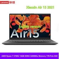 Lenovo Yi aire 15 portátil AMD Ryzen 7 5700U/Ryzen 5 5500U 16GB RAM 512GB/1TB SSD Cámara 15,6 pulgadas Ultraslim Notebook
