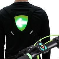 Turn signal controle remoto sem fio para colete reflexivo mochila para ciclismo correndo jogging Colete p/ ciclismo     -