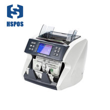 Fake Money Detector Banknote Smart Commercial Counting Machine Front LCD Screen Display Money Counter HS-770
