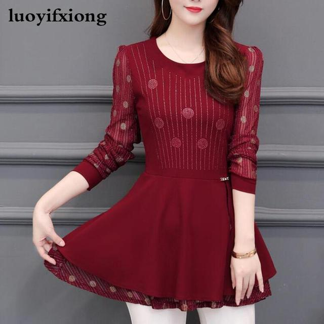 Women Blouses 2020 Autumn Long Sleeve Fashion Print Chiffon Blouse Women Shirts Korean Waist Plus Size Ladies Tops Blusas Mujer 1