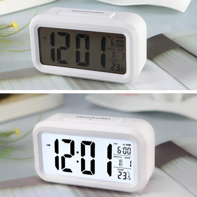 Alarm Clock Large Display With Calendar For Home Office Table Clock Snooze Electronic Kids Clock LED Desktop Digital Clocks(China)