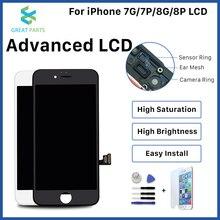 آيفون 8 Plus شاشة LCD OEM Incell مقدما عالية الجودة شاشة تعمل باللمس الجمعية استبدال جيدة ثلاثية الأبعاد تعمل باللمس شحن مجاني