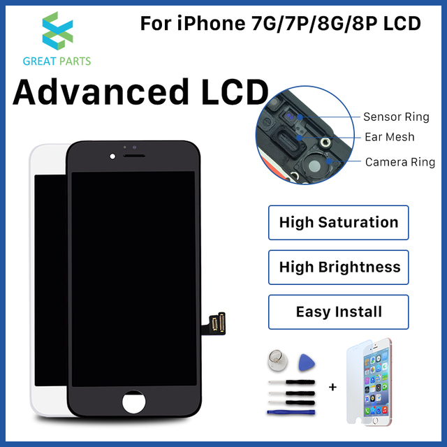 Voor Iphone 8 Plus Lcd Display Oem Incell Advance Hoge Kwaliteit Touch Screen Montage Vervanging Goede 3D Touch Gratis Schip
