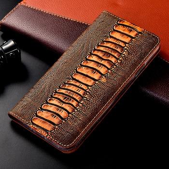 Genuine Leather Ostrich Case For Nokia 1 2 3 5 6 7 8 9 X5 X6 X7 X71 2.2 3.1 3.2 4.2 5.1 6.1 7.1 7.2 8.1 Plus wallet flip cover
