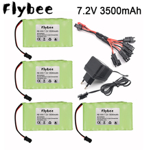 7.2v 3500mah Ni-MH AA rechargeable battery SM plug with charger for RC car RC truck RC boat RC tanks upgrade 7.2 V 3000 MAH