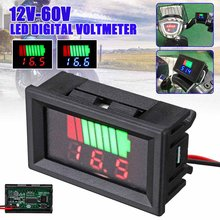 LCD Digital Voltmeter 12V - 60V Battery Capacity Indicator Lead Acid Power Car Motorcycle Voltage Tester Detector(China)