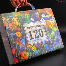 Brutfuner 120 Colors Oil Color Pencils Set Sketching Wooden Pencil 120 Water Colored Pencils For Student School Art Supplies