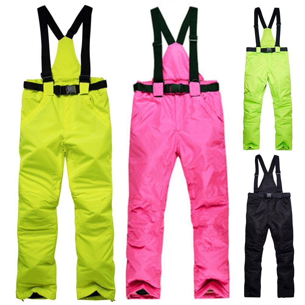 Outdoor High Quality Men Women Winter Snow Ski Snowboard Suspender Pants Warm Couple Windproof Waterproof Couple Trousers