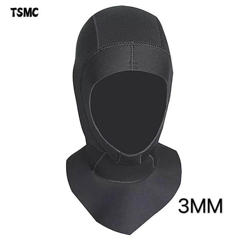 Неопреновый капюшон TSMC 3/5 мм для подводного плавания с плечевым снаряжением для подводного плавания, шапка, зимняя шапка, теплый гидрокостю...