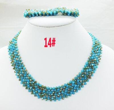 Новая цена-Африка, Нигерия, самый популярный ювелирный набор с кристаллами для невесты - Окраска металла: 14