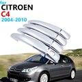 Роскошная хромированная накладка на ручку для Citroen C4 Pallas Triomphe Quatre 2004 ~ 2010  аксессуары  автомобильные наклейки 2009 2008 2007