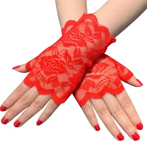 Image 4 - 6 Pairs Fingerless Women Lace Gloves Floral Lace Gloves Sunblock Lace Gloves Dressy Gloves for Wedding Dinner Parties ST254