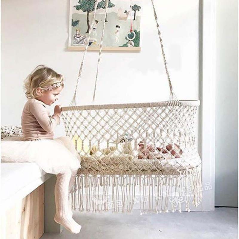 Infant Hanging Cradle Crib,Baby Hanging Bassinet And Portable Swing For Baby Nursery