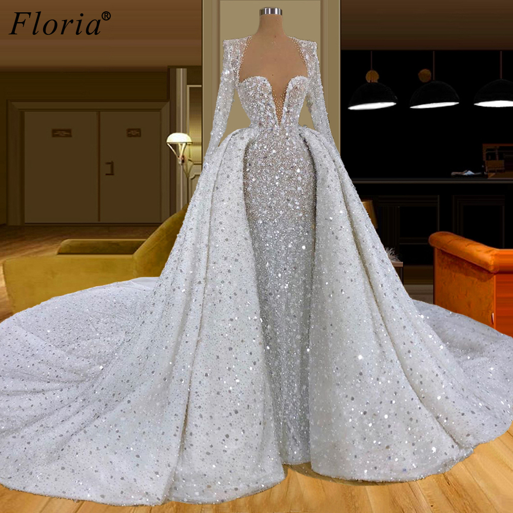 Luxury Woman Formal Evening Dresses 2020 Crystals Bling Two Pieces Evening Gowns Heavy Handmade Celebrity Dresses Party Vestidos