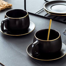 1 комплект Скандинавская керамика матовая чашка и блюдце набор
