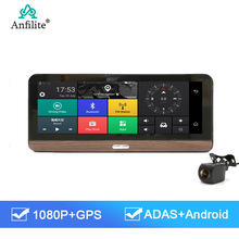 Anfilite 4G Adas Auto Dvr Camera 8 Inch Android Parking Monitor Dash Cam Griffier Video Recorder Gps Navigator Gratis global Kaarten