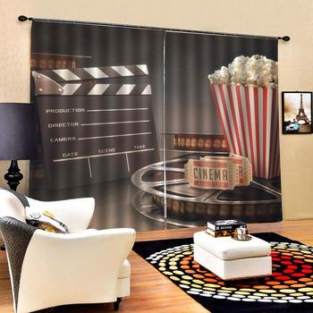 food curtains Window Blackout Luxury 3D Curtains set For Bed room Living room Office Hotel Home Wall Decorative