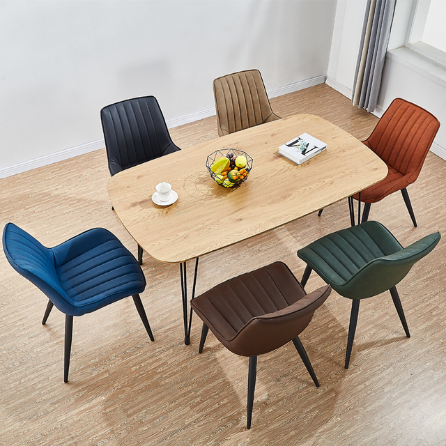 Modern Minimalist Backrest Dining Chair 3