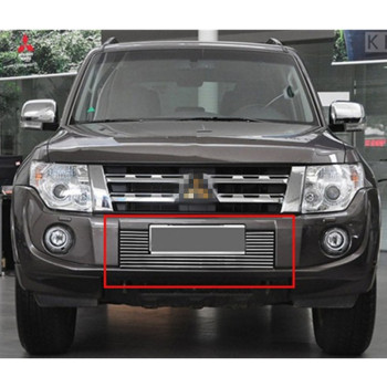 For Mitsubishi Pajero 2012 2013 2014 2015  High quality stainless steel Front Grille Around Trim Racing Grills Trim Car-styling