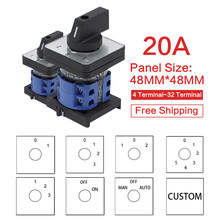 LW28-20 LW26-20 YMW26 series 660V 20A 1 2 3 4 5 6 7 8 -Position Mounting Rotary Select Cam Changeover Switch