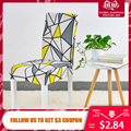 Floral Print Stuhl Abdeckung Haus Esstisch Elastische Stuhl Abdeckungen Multifunktionale Spandex Elastische Tuch Universal-Stretch 1 Stück