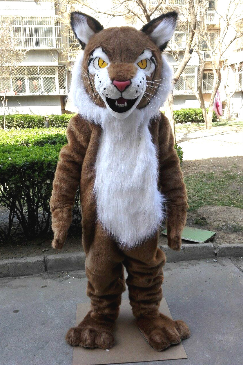 Fire Lion Fursuit Furry Costume Mascot Cartoon Character Cosplay Dress Adult