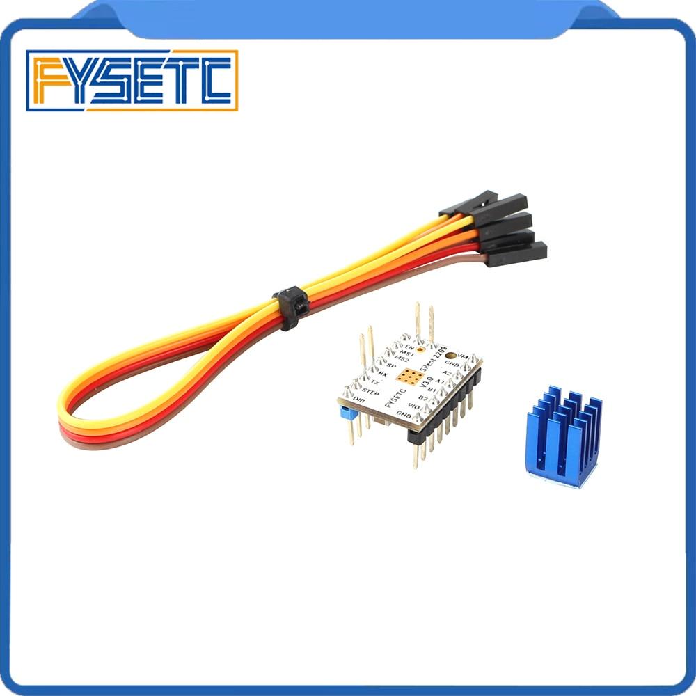 4pcs TMC2209 v3.0 Stepping Motor Driver 3d Printer Parts  Stepsticks Mute Driver 256 Microsteps Current 2.8A Peak VS TMC22083D  Printer Parts