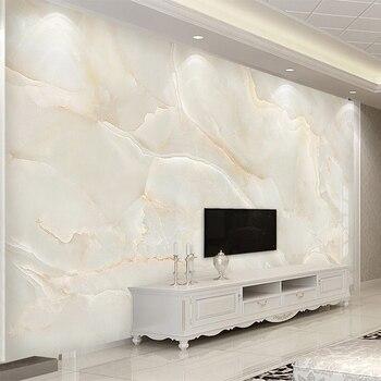 Fototapeta nowoczesny prosty beżowy marmur tło fototapeta TV do salonu Sofa Hotel luksusowy wystrój Papel De Parede Sala 3 D