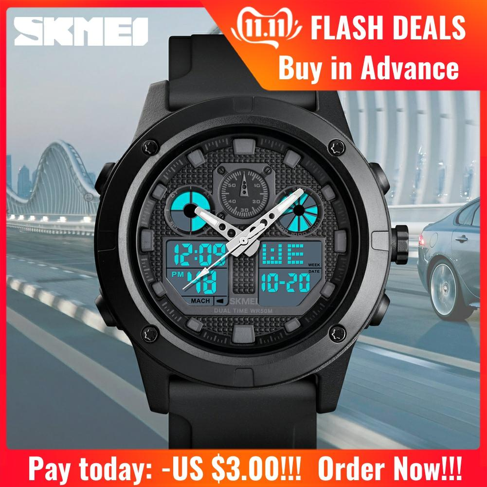 <font><b>SKMEI</b></font> Men Digial Watches Outdoor Sport Watch Military Waterproof 5Bar Luminous Dual Display Wristwatch montre homme <font><b>1514</b></font> image