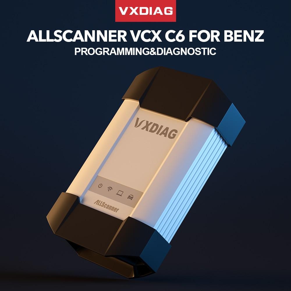 VXDIAG ALLSCANNER Obd2 Diagnostic Tool VCX C6 For Benz Mercedes DOIP Diagnostic Auto Online Programming Coding Software 2020
