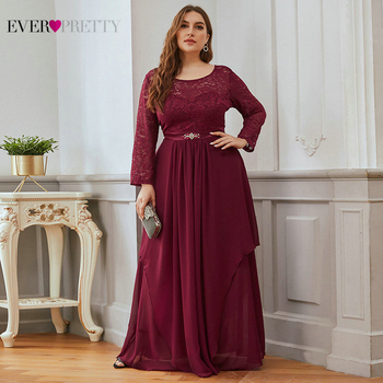 Long Evening Gowns Ever Pretty Elegant A Line Beading Sash Navy Blue Winter Lace Dress Party Formal With Sleeve Robe De Soiree - discount item  25% OFF Special Occasion Dresses