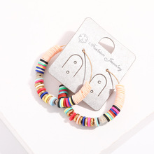 Colorful Handmade Polymer Clay Statement Earrings Irregular Drop Dangle Earring For Women Unique Design Jewelry Brincos Gift New 2019 new jewelry fashion wolf cute cat design party hook earring colorful round drop earrings accessories for women pretty gift