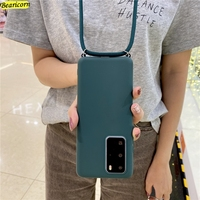 Candy Crossbody Lanyard Case For Xiaomi Mi 5X 6X 8 9 9T SE 10T CC9e CC9 Note 10 A1 A2 A3 Lite Poco X2 F2 M2 X3 C3 Pro Rope Cover