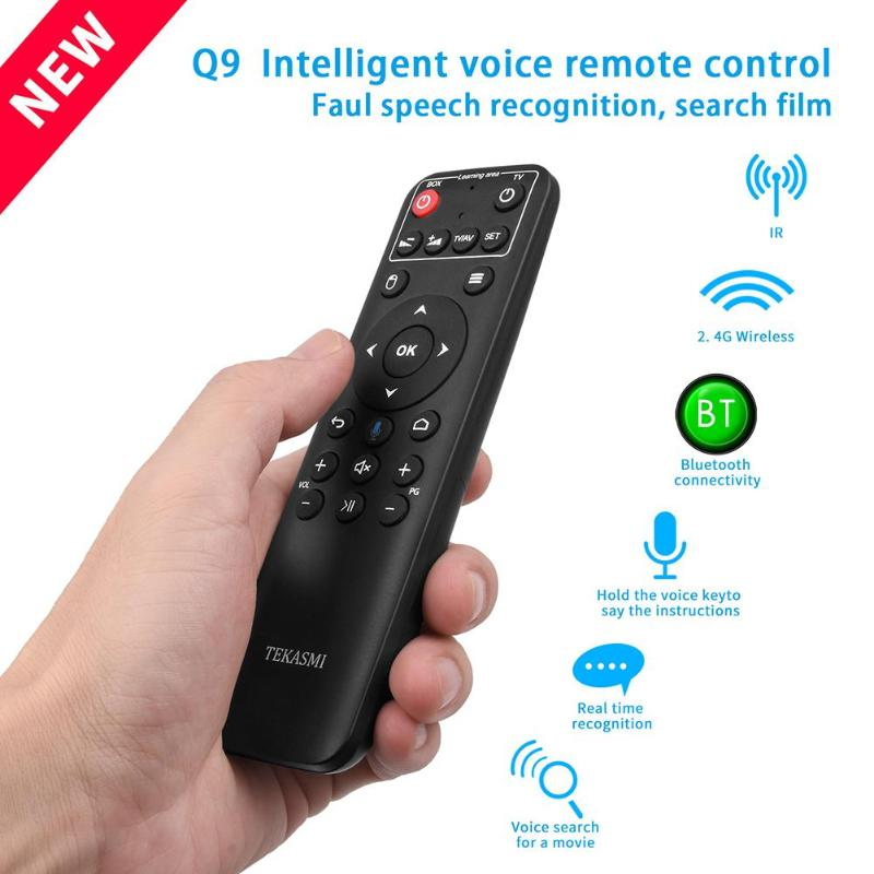 Q9 Air Mouse 10m Distance Remote Control Bluetooth+2.4GHZ Voice Control Mini Wireless Keyboard Home TV Infrared Remote Control