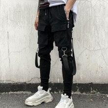 Feitong/уличная одежда; брюки-карго с боковыми карманами; мужские брюки в стиле хип-хоп; Лоскутные рваные спортивные брюки; pantalon homme