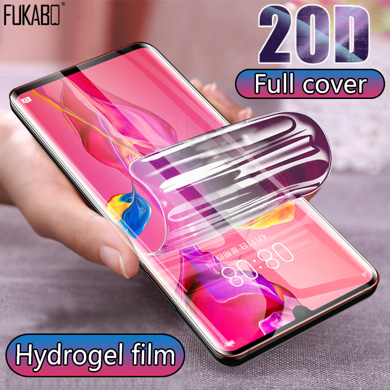 20D Full Cover Hydrogel Film For Huawei P30 Pro P20 Lite Screen Protector Y5 Y6 Y7 P Smart 2019 Honor 20 Pro Nova 5T Not Glass