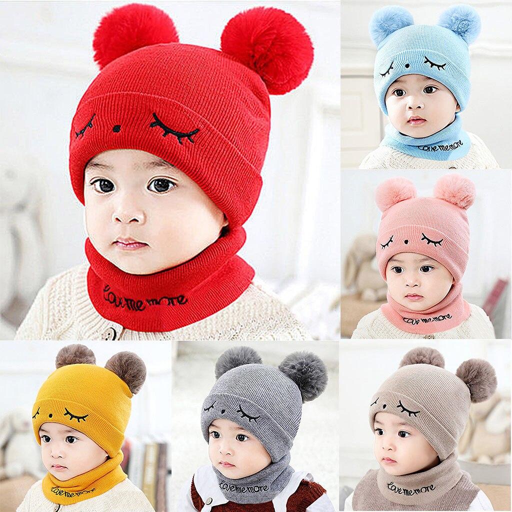 Newborn Kids Baby Boy Girl Pom Hat Children Winter Warm Knit Bobble Beanie Cap