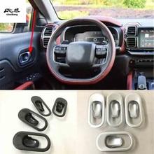 4 шт./лот ABS углеродного волокна зерна межкомнатных дверей потрясение дверная ручка чаша декоративная крышка для- Citroen C5 AIRCROSS