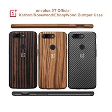 Original Official  Oneplus 5T 6T 7pro  Bumper Case Back Cover Karbon Rosewood Ebony Wood  All round Protection shell oneplus 5t