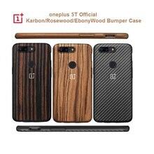 Original OnePlus 5T 6T 7PRO กันชน Case Karbon Rosewood Ebony ไม้รอบเปลือกป้องกัน onePlus 5T