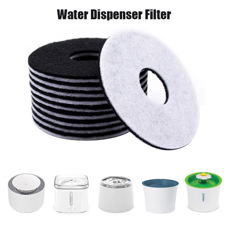 10Pcs Cat Water Fountain Filter Automatic Dispenser Filter Cotton Activated Carbon Filter Pet Electric Cotton Universal Cat Dog