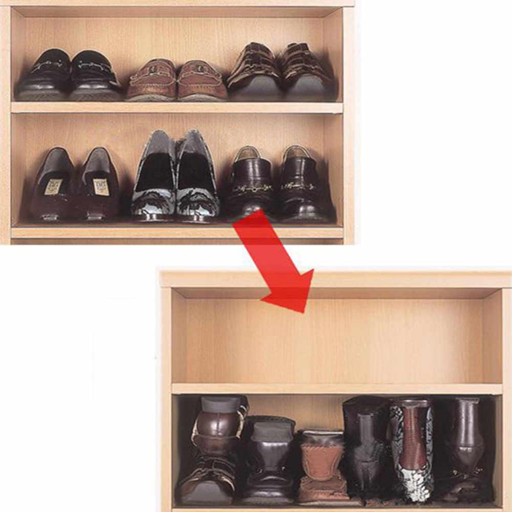 1 para gospodarstwa domowego przenośna szafka do przechowywania butów uchwyt na półkę Organizer do oszczędzenia miejsca