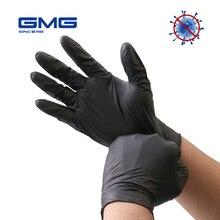 Nitril Handschuhe Schwarz 100 teile/los Lebensmittel Grade Wasserdicht Allergie Freies Einweg Arbeit Sicherheit Handschuhe Nitril Handschuhe Mechaniker