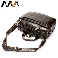 MVA Man Leather Bag Men's Briefcase Office Bags for Men Bag Men's Genuine Leather 14 Inch Laptop Bag Male Tote Briefcase Handbag