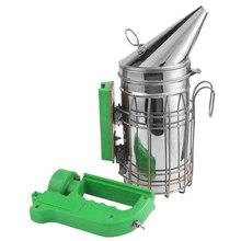 Ape elettrico Fumo Trasmettitore Kit Strumento di Apicoltura per Ape Fumatore Apicoltura Elettrico In Acciaio Inox Contenitore di Apicoltura